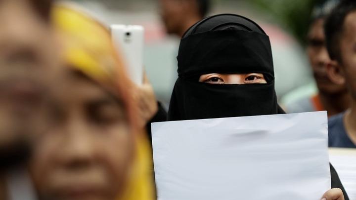 Αποτέλεσμα εικόνας για η δανια απαγορευσε την μαντήλα